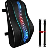 Lumbar Support Pillow for Office Chair, Memory Foam Back Cushion Orthopedic Backrest, Car Seat Lumbar Pillows for Back Pain R
