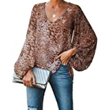 Imysty Womens Long Sleeve Cowl Neck Tunic Tops Casual Plaid Sweatshirts Pullover