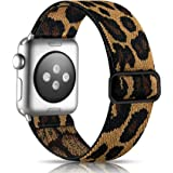 Getino Adjustable Elastic Band Compatible with Apple Watch 40mm 38mm iWatch SE & Series 6 5 4 3 2 1, Soft Stylish Cute Stretc