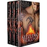 Sizzling Dragons Box Set (Books 1-3: Fallen Immortals)—Dragon Shifter Paranormal Romance (Fallen Immortals Box Sets Book 1)