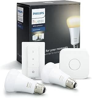 Philips Hue(ヒュー) | ホワイトグラデーション スターターセット | E26スマートLEDライト2個+ブリッジ1個+ディマースイッチ1個 |【Amazon Echo、Google Home、Apple HomeKit、LINEで音声コントロール】