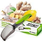 Yarmoshi Lemon zester Ginger Grater for Garlic, Nutmeg, Chocolate, Lemon Zest and More. Stainless Steel Blade. Ergonomic Peng