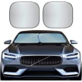 EcoNour Foldable 2-Piece Premium Car Windshield Sunshade | UV Protector Automotive Window Sunshades | Fit for Cars, SUVs, Van