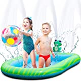 Splashin'kids 2 in 1 Combination Inflatable Sprinkler and Pool Water Park For Children Toddlers Kids Dogs Kiddie Wading Swimm