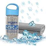 SZsic 瞬冷 冷却タオル 冷感 吸水 柔らかい コンパクト クールタオル 防臭 超速乾 スポーツアイス タオル 100*30cm