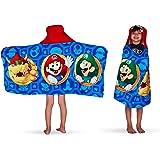 "Franco HH4668 Kids Bath and Beach Soft Cotton Terry Hooded Towel Wrap, 24"" x 50"", Super Mario"