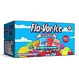 Fla-Vor-Ice Freezer Pops, Gluten & Fat Free Ice Pops, Fruity Flavors (100 – 1.5 oz pops)