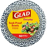 Glad 16 oz Paper Bowls With Daisy Design   Disposable Paper Bowls for Parties and Picnics Daisy Print   Microwave Safe Dispos