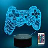 Lampeez Game Control 3D Night Light Touch Remote Optical Illusion Lamps 16 Color Changing Lights Home Decoration Xmas Birthda