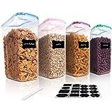 Vtopmart Cereal Storage Container Set 4 Pieces Set Transparent