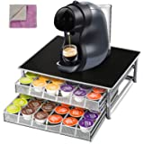2-Tier Coffee Pod Holder with 2pcs Cleaning Cloths Coffee Pod Storage Drawer for 72 Pods Masthome