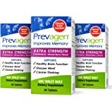Prevagen Improves Memory - Extra Strength 20mg, 30 Chewables |Mixed Berry-3 Pack| with Apoaequorin & Vitamin D | Brain Supple
