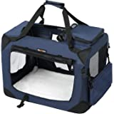 FEANDREA キャリーバッグ 中型犬 大型猫 ペットキャリー 省スペース 頑丈耐久 変形しない 室内用可 NPDC60Z