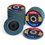 WORKPRO 20-pack Flap Disc, 4-1/2 x 7/8-inch, T29 Zirconia Abrasive Grinding Wheel and Flap Sanding Disc, Includes 40/60/80/12