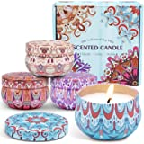 LA BELLEFÉE Scented Candle Soy Wax Travel Tin Aromatherapy Candles Gift Set 4 Pack