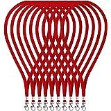 Fushing ネックストラップ 首かけ吊り下げ式 携帯 名札用 IDバッジカード キー落下防止 イベント 会社員 学生 観光客適用 45cm 100本 (赤色) [並行輸入品]