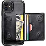 KIHUWEY iPhone 11 Wallet Case Credit Card Holder, Premium Leather Kickstand Durable Shockproof Protective Cover iPhone 11 6.1