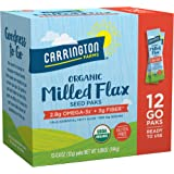Carrington Farms Organic Milled Flax Seed, Gluten Free, USDA Organic, 12 Count Easy Serve Packets (Pack of 6)