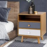 Artiss Bedside Table Wooden Nightstand Sofa Side Cabinet