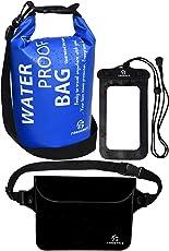 Freegrace防水ドライバッグ3セット-2つのジップロック&取り外し可能のショルダーストラップ付き、ウエストポーチ&携帯ケース - 水につけても大丈夫 - 水泳、カヤック、ラフティング、ボートに最適