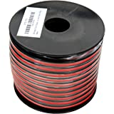GS Power 100% Copper 12 AWG (American Wire Gauge) 100 Feet Flexible Stranded Red/Black 2 Conductor Bonded Zip Cord for Car Au