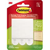 Command Command Medium Picture Hanging Strips, White, 3 Sets of Strips/Pack, 17201P-ES