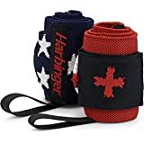 Harbinger Red Line 18-Inch Weightlifting Wrist Wraps for Men and Women (Pair)