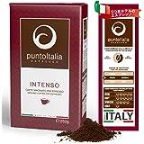 [Amazon限定ブランド] Punto Italia Espresso Journey プント・イタリア・エスプレッソ [Intenso インテンソ] コーヒー粉 アラビカ豆60% ロブスタ豆40% ミディアム・ロースト (250g)