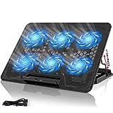 YockTec 冷却台【2020年版-正規品】 ノートパソコン 冷却パッド アルミニウム冷却コンピュータースタンド、高さ…