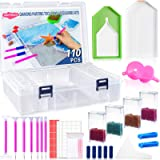 Suptikes 110pcs Diamond Painting Tools and Accessories with 44 Slots Diamond Painting Storage Containers for Adults or Kids,