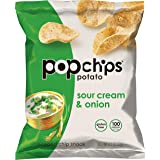 Popchips Sour Cream & Onion Potato Chips Single Serve 0.8 oz Bags (Pack of 24)