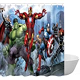 ClSCZLprints Funny Superhero Custom Shower Curtain,Waterproof Polyester Fabric Decorative Bathroom Bath Curtains