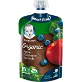 Gerber Organic 2nd Foods Baby Food, Apples, Blueberries & Spinach, 3.5 oz Pouch, 12 count cuicui
