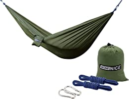 Camping Hammocks, WoneNice Portable Lightweight Nylon Parachute Multifunctional Hammock with Hanging Straps for...