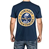 Shelby Cobra Snake Live Fast, Drive Faster Tee T-Shirt | Breathable and Lightweight Fabric | Double Needle Stitched Sleeves a