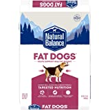 Natural Balance Fat Dogs Low Calorie Dry Dog Food, Chicken Meal, Salmon Meal, Garbanzo Beans, Peas & Oatmeal, 15 Pounds (Pack