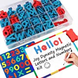 237 Pcs Magnetic Letters and Numbers with Magnetic Board and Storage Box - Uppercase Lowercase Foam Alphabet Letters for Frid