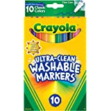 10ct Ultra-Clean Fineline Markers ,washable, detail drawing, pens, colouring, fun, gifts, education, project, booklist, class