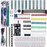 ELEGOO Upgraded Electronics Fun Kit w/Power Supply Module, Jumper Wire, Precision Potentiometer, 830 tie-Points Breadboard fo