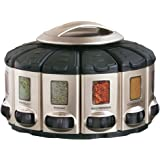 Kitchen Art 57010 Select-A-Spice Auto-Measure Carousel Professional Series, Satin