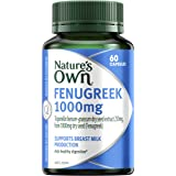 Nature's Own Fenugreek 1000mg - Traditionally used to Support Healthy Digestion and Improve Breast Milk Production, 60 Capsul