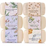 O Naturals 6 Piece Moisturizing Body Wash Bar Soap Collection. Hand Soap, Acne Soap 100% Natural Organic Ingredients & Therap