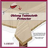 "LAMINET LAMINET Heavy-Duty Deluxe Crystal Clear Vinyl Tablecloth Protector 60"" x 108"" - Oblong, TTLCL6108, Clear, 60"" x 108"""