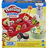 Play-Doh Kitchen Creations Sushi Play Food Set for Kids 3 Years and Up with Bento Box and 9 Non-Toxic Play-Doh Cans,E79155L0