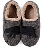 ULTRAIDEAS Men's Fuzzy Sherpa Fleece Slippers with Memory Foam, Fleece Lined Soft Sole Indoor House Shoes with Non Slip Gripp