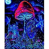 "NewBrightBase Mushrooms Trippy Art Fabric Cloth Rolled Wall Poster Print Size: 17 X 13 16""x13""(40cmx33cm) A"
