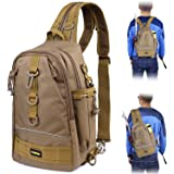 PLUSINNO Fishing Tackle Backpack Storage Bag,Outdoor Shoulder Backpack,Fishing Gear Bag,Water-Resistant Fishing Backpack with