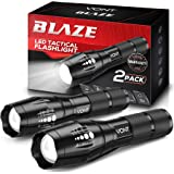 Vont 'Blaze' Tactical Flashlight (2 Pack) LED Flashlights, Extremely Bright Flash Light, High Lumen, Adjustable Beam, Water-R