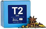 T2 Tea Organic Chai Loose Leaf Black Tea in Gift Cube 100 g, 1 x 100 g