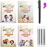 4pcs Sank Magic Practice Copybook with Pen, Reusable Handwriting English Sank Magic Practice Copybook for Children, Alphabet